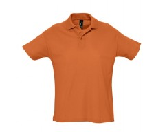 Рубашка поло мужская SUMMER 170 оранжевая