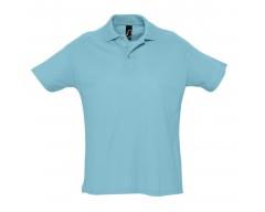 Рубашка поло мужская SUMMER 170 бирюзовая