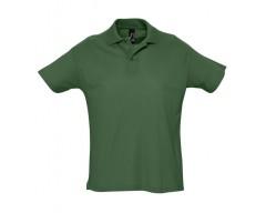 Рубашка поло мужская SUMMER 170 темно-зеленая