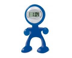 Многофункциональная подставка с часами, синяя