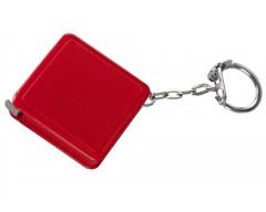 Брелок с рулеткой 1 м, красный