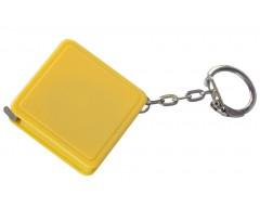 Брелок с рулеткой 1 м, желтый