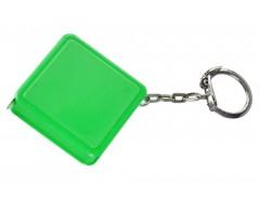 Брелок с рулеткой 1 м, зеленый