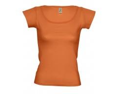 Футболка женская с глубоким вырезом MELROSE 150 оранжевая
