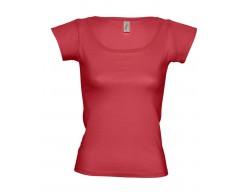 Футболка женская с глубоким вырезом MELROSE 150 красная