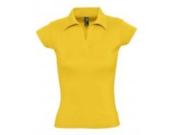 Рубашка поло женская без пуговиц PRETTY 220 желтая (абрикосовая)