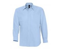 Рубашка мужская с длинным рукавом BOSTON голубая