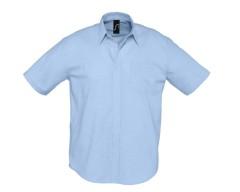 Рубашка мужская с коротким рукавом BRISBANE голубая