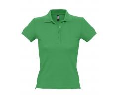 Рубашка поло женская PEOPLE 210 ярко-зеленая