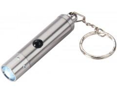 Брелок с LED-фонариком Cresset, серебристый