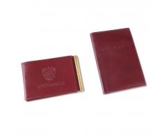 Набор: обложка для паспорта и обложка для удостоверения
