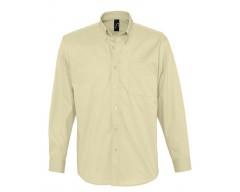 Рубашка мужская с длинным рукавом BEL AIR бежевая