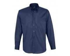 Рубашка мужская с длинным рукавом BEL AIR темно-синяя (кобальт)