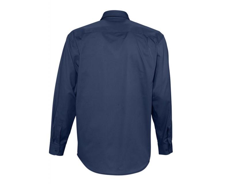 238a4d25a3e Рубашка мужская с длинным рукавом BEL AIR темно-синяя (кобальт)