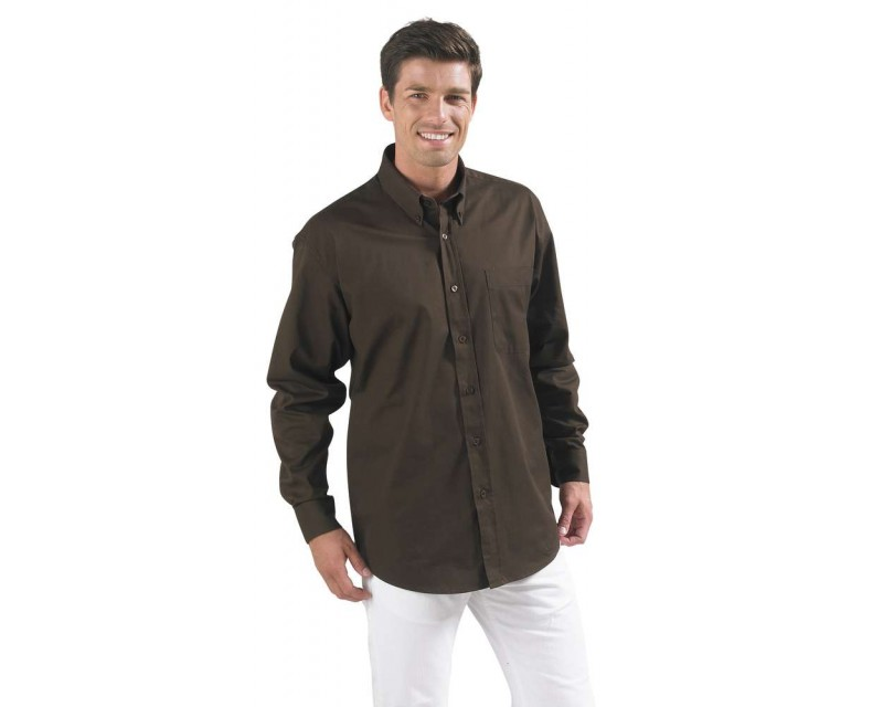 e1c92820366 Рубашка мужская с длинным рукавом BEL AIR белая