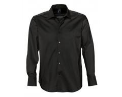 Рубашка мужская с длинным рукавом BRIGHTON черная