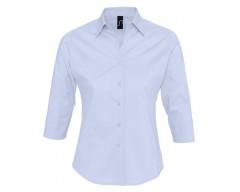 Рубашка женская с рукавом 3/4 EFFECT 140 голубая