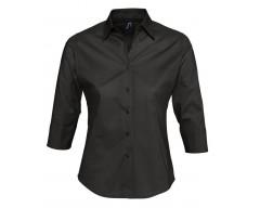 Рубашка женская с рукавом 3/4 EFFECT 140 черная