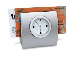 Часы с подставкой для визиток