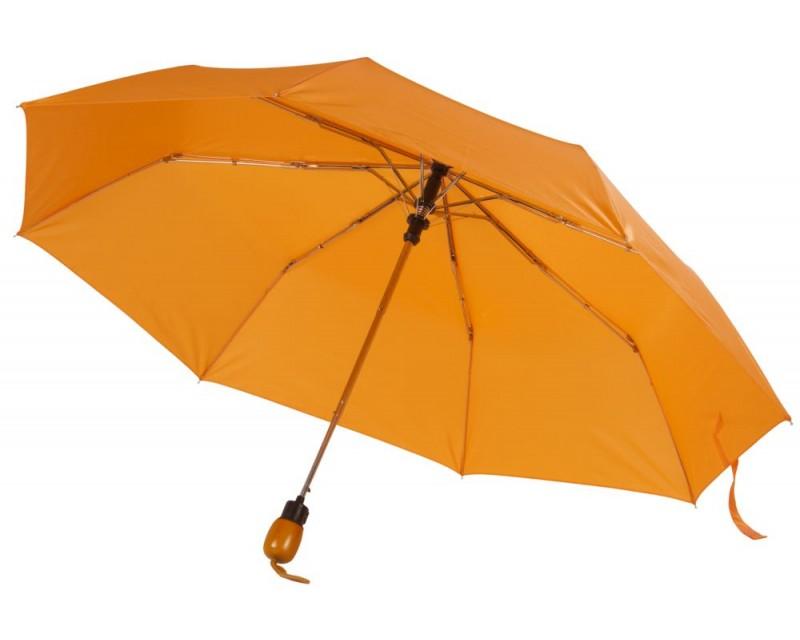 Зонт складной, оранжевый