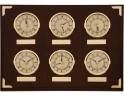 Часы настенные с мировым временем