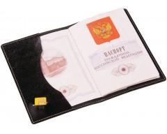 Обложка для паспорта, черная