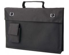 Портфель с маленьким кармашком, черный