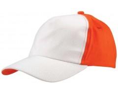 Бейсболка UNIT EVERY, белая с оранжевым
