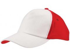 Бейсболка UNIT EVERY, белая с красным
