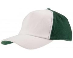 Бейсболка UNIT EVERY, белая с зеленым