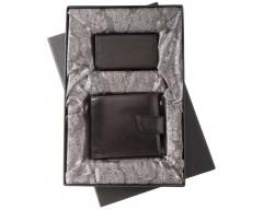 Набор Alvaro: портмоне и футляр для визиток, черный