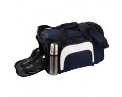 Сумка с отделением для обуви и бутылки, синяя