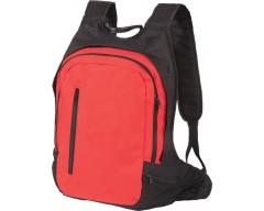 """Рюкзак с отделением для ноутбука 17"""", красный с черным"""