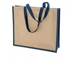 Сумка для покупок BAGARI с синей отделкой