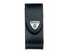 Чехол кожаный черный с застежкой липучкой и поворотным механизмом