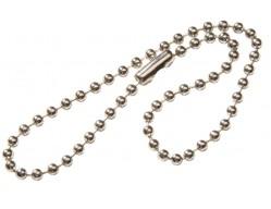 Крепление для светоотражателя - серебристая цепочка, 20 см