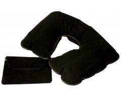 Надувная подушка под шею в чехле, черная