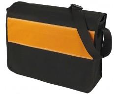 Сумка мессенджер UNIT MESSAGE, оранжевая с черным