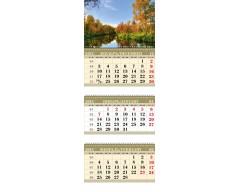 Календарь ТРИО MINI «Осенняя река»
