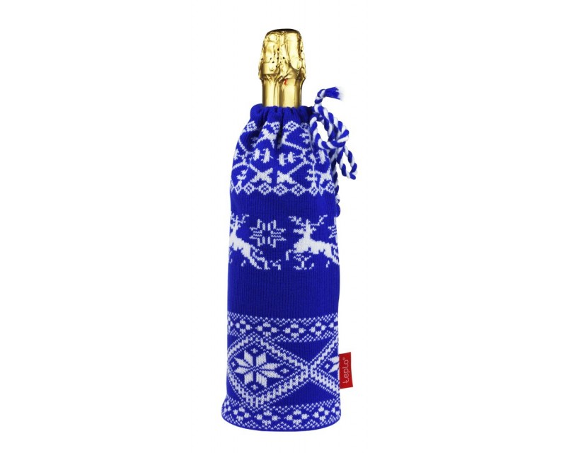 Чехол на шампанское «Сказка», синий