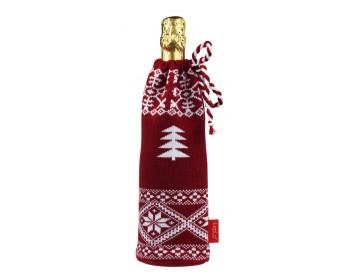 Чехол на шампанское «Елочка», красный