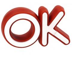 Флешка OK, красная, 4 Гб