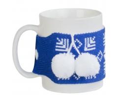 Манжета на чашку «Теплушка», синяя