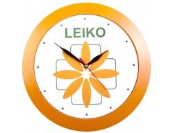 Часы настенные, большие, оранжевые