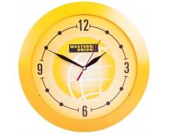 Часы настенные, большие, желтые