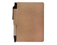 Блокнот Eco light c ручкой с черными элементами