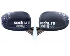 Комплект чехлов для автомобильных зеркал «Узор», черный