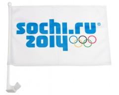 Флаг с креплением на стекло автомобиля «Сочи», белый