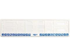 Рамка для регистрационного номера автомобиля «Пиктограммы», белая