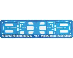 Рамка для регистрационного номера автомобиля «Пиктограммы», голубая